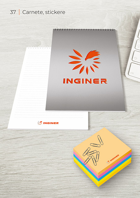 Inginer BrandBook Carnete Stickere